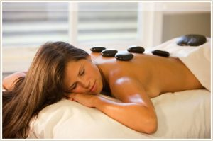 A hot stone massage